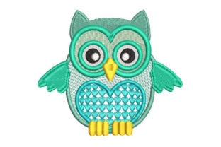 Cute Owl Heart Birds Embroidery Design By Embroiderypacks