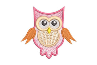 Cute Owl Birds Embroidery Design By Embroiderypacks