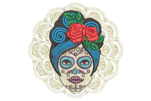 Day of the Dead La Catrina Work, Religion & School Embroidery Design By Embroiderypacks