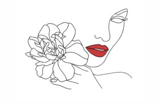 Face Fashion & Beauty Embroidery Design By LizaEmbroidery