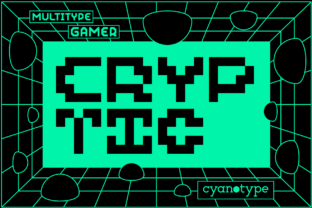 Print on Demand: Gamer Cryptic Display Font By cyanotype