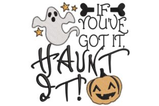 Haunt It Halloween Embroidery Design By Bella Bleu Embroidery