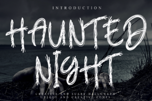 Print on Demand: Haunted Night Display Font By Creativewhitee