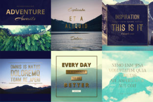 Print on Demand: Scenery Quotes Layout Set Graphic UX and UI Kits By Wavebreak Media