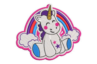 Unicorn with Rainbow Fairy Tales Embroidery Design By Embroiderypacks