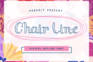 Print on Demand: Chair Line Serif Font By nomlimofont