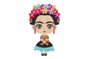 Colorful Girl Woman Boys & Girls Embroidery Design By Embroiderypacks