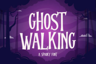 Print on Demand: Ghost Walking Display Font By Fallengraphic