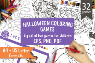 Halloween Coloring Games Graphic Coloring Pages & Books Kids By lexiclaus