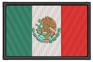 Mexican Flag Mexico Embroidery Design By Embroiderypacks