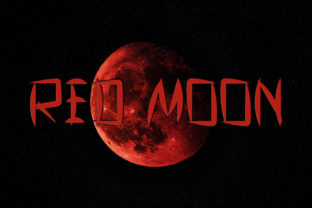 Print on Demand: Red Moon Display Font By aprianaart