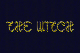 Print on Demand: The Witch Display Font By aprianaart