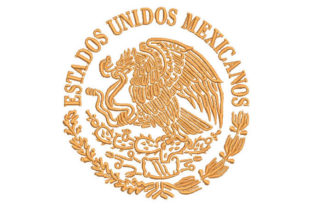 United Mexican States Mexico Embroidery Design By Embroiderypacks