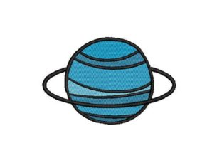 Uranus Robots & Space Embroidery Design By Embroidery Designs