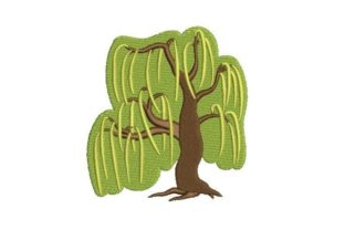 Weeping Willow Forest & Trees Embroidery Design By Embroidery Designs