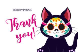 Print on Demand: Day of the Dead Black Kitties Graphic Illustrations By DigitalPapers 3