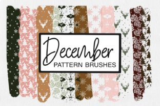 Print on Demand: December Pattern Brushes   Procreate Graphic Brushes By illuztrate
