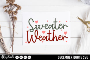 Print on Demand: December SVG Quotes   Winter SVG Cut Graphic Crafts By illuztrate 10
