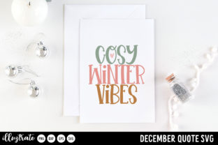Print on Demand: December SVG Quotes   Winter SVG Cut Graphic Crafts By illuztrate 5