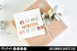 Print on Demand: December SVG Quotes   Winter SVG Cut Graphic Crafts By illuztrate 9