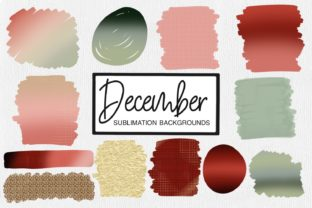 Print on Demand: December Sublimation Backgrounds Graphic Crafts By illuztrate