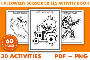 Print on Demand: Halloween Scissors Skills Activity Book Graphic Coloring Pages & Books Kids By KDP INTERIOR DESIGN