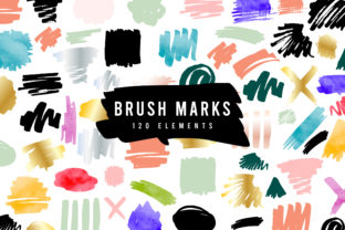 Print on Demand: Multicolor Brush Marks Set Graphic UX and UI Kits By Wavebreak Media