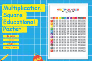 Multiplication Square Educational Poster Graphic Teaching Materials By Kids Zone