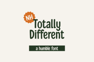 Print on Demand: Totally Different Display Font By nhfonts