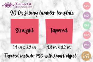 20 Oz Skinny Tumbler Template Svg, Psd Graphic Graphic Templates By KatineArt