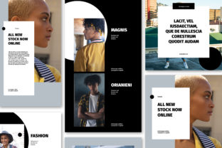 Print on Demand: Black and White Social Media Post Set Graphic UX and UI Kits By Wavebreak Media