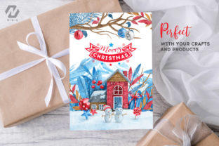 Print on Demand: Christmas Happy Land Watercolor Elements Graphic Illustrations By nesdigiart 15