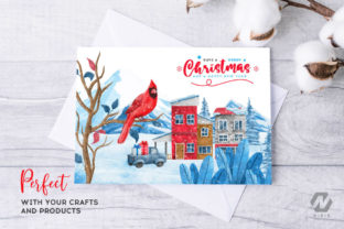 Print on Demand: Christmas Happy Land Watercolor Elements Graphic Illustrations By nesdigiart 16