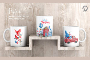 Print on Demand: Christmas Happy Land Watercolor Elements Graphic Illustrations By nesdigiart 17