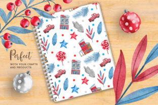 Print on Demand: Christmas Happy Land Watercolor Elements Graphic Illustrations By nesdigiart 18