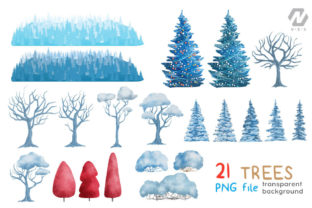 Print on Demand: Christmas Happy Land Watercolor Elements Graphic Illustrations By nesdigiart 7
