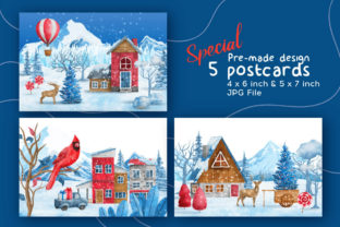 Print on Demand: Christmas Happy Land Watercolor Elements Graphic Illustrations By nesdigiart 9