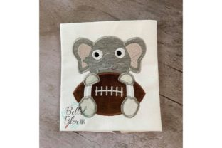 Elephant Football Sports Embroidery Design By Bella Bleu Embroidery