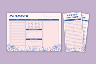 Print on Demand: Floral Planner Set Graphic UX and UI Kits By Wavebreak Media