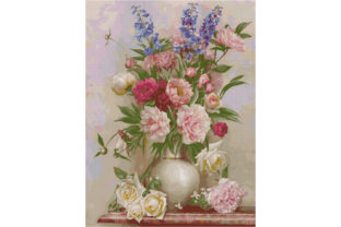 Print on Demand: Flowers-Sublimation-Cross Stitch Pattern Graphic Cross Stitch Patterns By Crochet Patterns