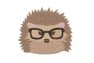 Hipster Hedgehog Woodland Animals Embroidery Design By Embroidery Designs