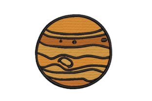 Jupiter Robots & Space Embroidery Design By Embroidery Designs
