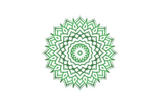 Mandala Green Gradient Graphic Icons By Graphic Idea