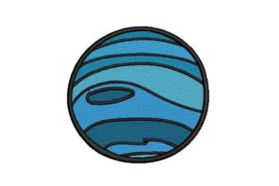 Neptune Robots & Space Embroidery Design By Embroidery Designs