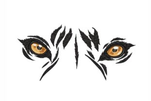 Tiger Eyes Wild Animals Embroidery Design By NinoEmbroidery