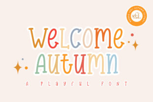 Print on Demand: Welcome Autumn Display Font By Graphix Line Studio
