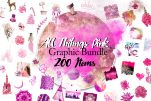 Print on Demand: All Things Pink Graphic Bundle Graphic Illustrations By Digital Doodlers 5
