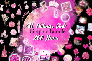 Print on Demand: All Things Pink Graphic Bundle Graphic Illustrations By Digital Doodlers 6
