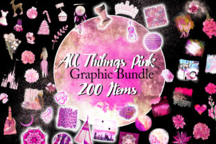 Print on Demand: All Things Pink Graphic Bundle Graphic Illustrations By Digital Doodlers 7