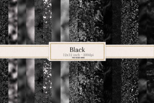 Print on Demand: Black Texture Seamless Graphic Backgrounds By The Rose Mind